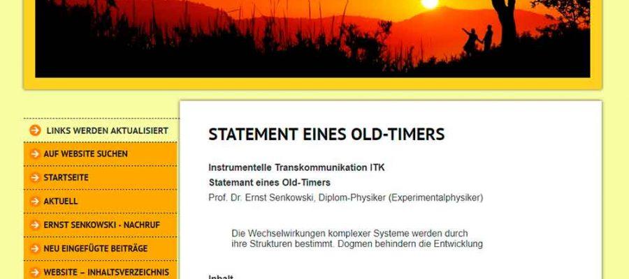 PROFESSOR SENKOWSKI'S STATEMENT ON THE FASCINATING ISSUE OF EVP/ITC